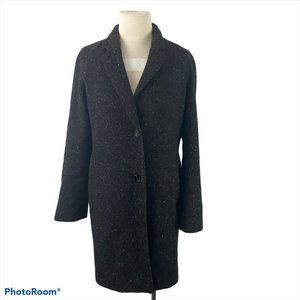 WILFRED Black Wool Trench Coat